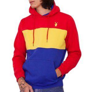 Dutch Bros Tri-Color Embroidered Striped Hoodie Sweatshirt, Unisex, M